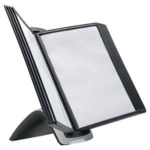 Système d'affichage Durable Sherpa 5855 Style avec pied, 10 panneaux, PP, noir