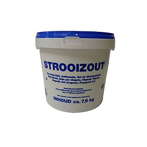 Strooizout, emmer van 7,5 kg, per stuk