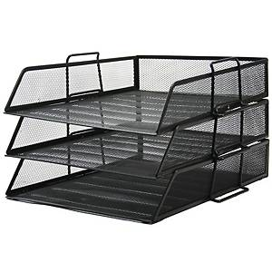 ORCA H-0831 DOCUMENT TRAY 3 LEVELS BLACK