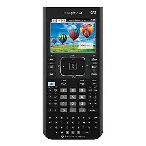 Teknisk regner Texas TI-Nspire CX CAS, sort