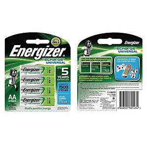 Energizer HR15 AA Recharge Battery - Pack of 4