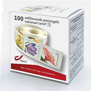Zelfklevende postzegels België, nationaal 1, tot 50 g, per 100 zegels op rol