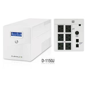 CLEANLINE เครื่องสำรองไฟ D-1150J 1150VA/630W สีขาว