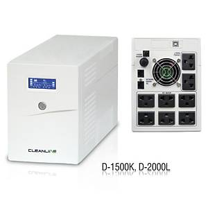 CLEANLINE เครื่องสำรองไฟ D-2000L 2000VA/1200W สีขาว