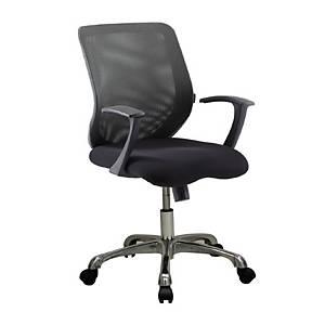 ZINGULAR เก้าอี้สำนักงาน CHRISTINA 1 ขาเงิน ดำ
