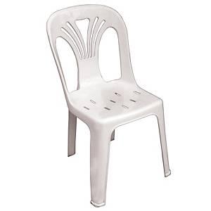 ACURA เก้าอี้จัดเลี้ยง/เก้าอี้พักคอย U-0001 แบบมีพนักพิง สีขาว
