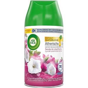 Recharge pour désodorisant d ambiance soie et lys, 250 ml, parfum lys