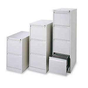 Gaveta arquivadora Bisley Premium - 4 gavetas - 470 x 1321 mm - cinzento