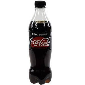 Coca-Cola Zero frisdrank, pak van 24 flessen van 0,5 l