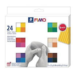 FIMO-soft Staedtler, assorterede farver, æske a 24 stk.
