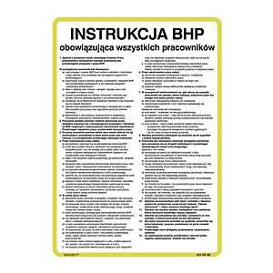 Instrukcja ogólna BHP, 350 x 250 mm