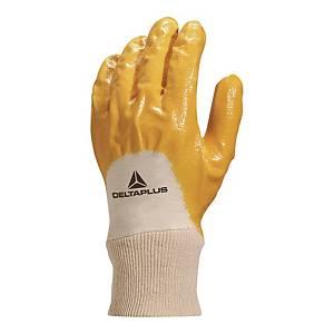 Rękawice powleczone nitrylem DELTA PLUS NI015, rozmiar 8, 12 par