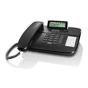 Stolový drôtový telefón Gigaset DA710, čierny