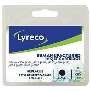 Lyreco compatible HP CC654AE cartouche jet d encre nr.901XL noire [700 pages]