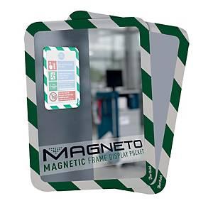 Ramka informacyjna TARIFOLD Magneto, magnetyczna, zielono-biała, 2 sztuki