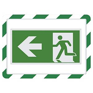 TARIFOLD FRAME MAGNETO SAFETY SIGN FRAME BACK A4 GREEN/WHITE PACK OF 2