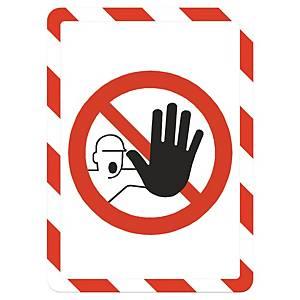 Panneau d affichage de sécurité avec cadre Tarifold, A4, autocol., rge/blanc