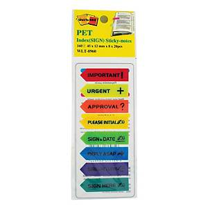 Rainbow JYP 8 Colour Index With Text - 20 Flags X 8 Colours