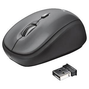 Optická bezdrôtová myš Trust Yvi, farba čierna