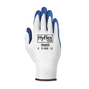 ANSELL ถุงมือ HYFLEX 11-900 ไนไตรล์ ไซส์8 ฟ้า 1 คู่