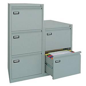 Classificatore per cartelle sospese Kubo Bertesi 2 cassetti in metallo grigio
