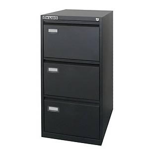 Classificatore per cartelle sospese Kubo Bertesi 3 cassetti in metallo nero