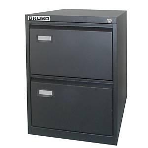 Classificatore per cartelle sospese Kubo Bertesi 2 cassetti in metallo nero