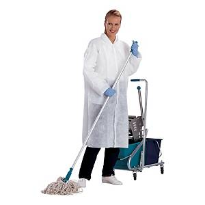 Jednorazový pracovný plášť DELTAPLUS BLOUSPO, veľkosť XL, biely