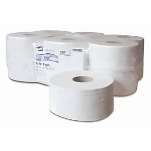Pack de 12 rolos de papel higiénico Tork Premium - Folha dupla - 160 m