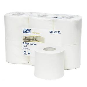 Pack de 6 rolos de papel higiénico Tork Premium - Folha dupla - 38 m