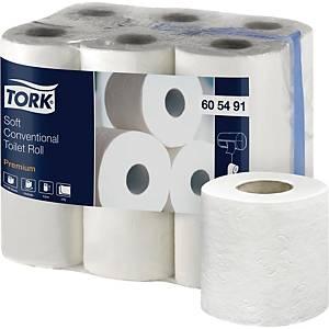 Pack de 12 rollos de papel higiénico Tork Premium - 2 capas - 22,8 m