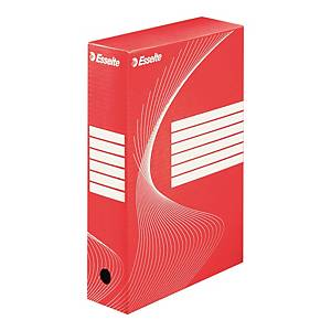 ESSELTE BOXY ARCHIVE BOX 80 MM RED