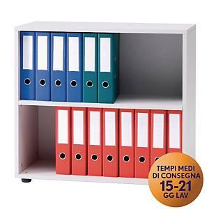 Armadio basso libreria TDM linea Office L 80 x P 35 x H 74 cm grigio