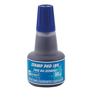 Tusz bezolejowy D.RECT 105304 niebieski, 30 ml* UWAGA W SPRZEDAŻY 25ML