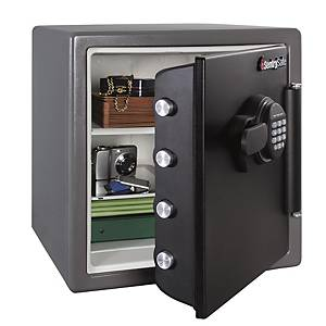 SentrySafe Water & Fire Protection Electric Key Lock Safe SFW123FSC