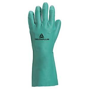 Gants chimiques Deltaplus Nitrex VE802, nitrile, taille 9/10, la paire