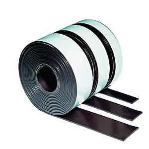 Ruban adhésif magnétique Legamaster, 12,5 mm x 1 m, autocollant