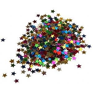 Paillettes decoratives étoiles en couleurs assorties 130 gr