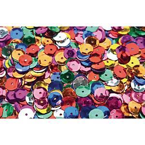 Paillettes decoratives rondes en couleurs assorties 130 gr