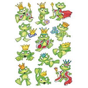 etiquettes de récompense grenouilles - 10 paquets de 3 feuilles