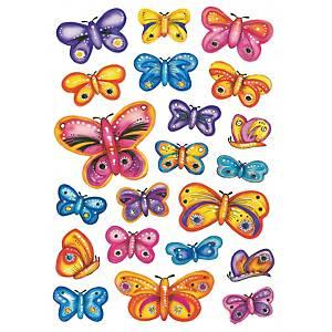 etiquettes de récompense papillons - 10 paquets de 3 feuilles