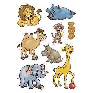 etiquettes de récompense zoologie - 10 paquets de 3 feuilles