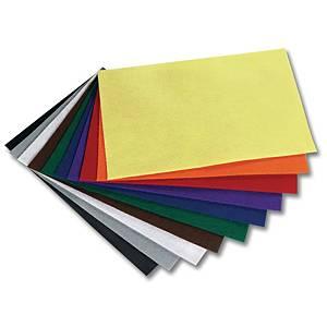 Feutre A4 couleurs assorties - le paquet de 10