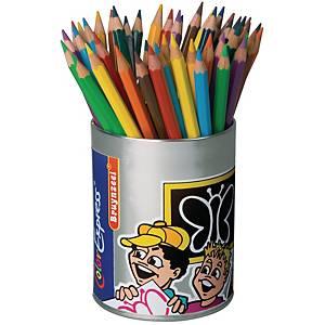 Bruynzeel Mega crayon couleurs assorties 5 mm - le paquet de 48