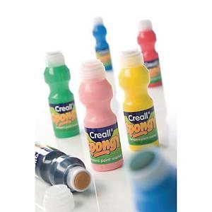 Creall Spongy gouache 70 ml couleurs assorties - le paquet de 6