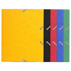 Farde à 3 rabats en carton 19 x 24 cm avec élastique