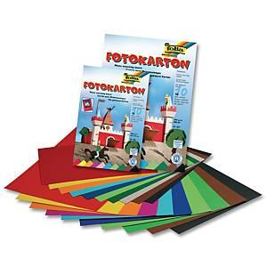 Carton photo 50 x 70 cm 300 gr couleurs assorties - le paquet de 100