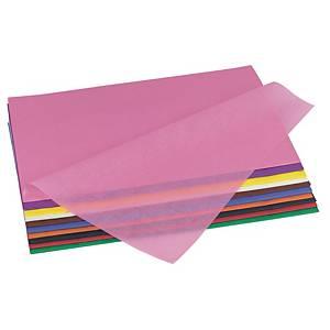 Papier de soie 50 x 70 cm vert foncé - le paquet de 26