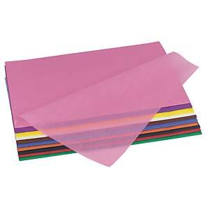 Papier de soie 50 x 70 cm couleurs assorties - le paquet de 26