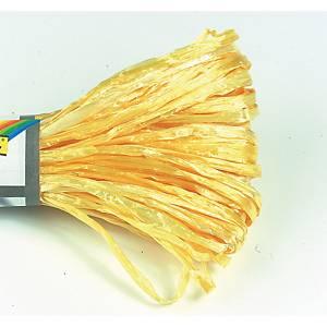 Raphia artificiëlle 30 m jaune brillant